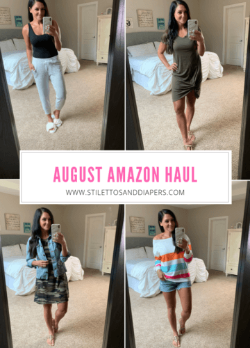 August Amazon Haul, Stilettos and Diapers, Molly Wey, Fall Transition