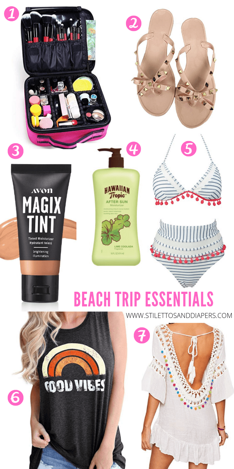 Beach Essentials, Labor Day Weekend Trip, Stilettos and Diapers
