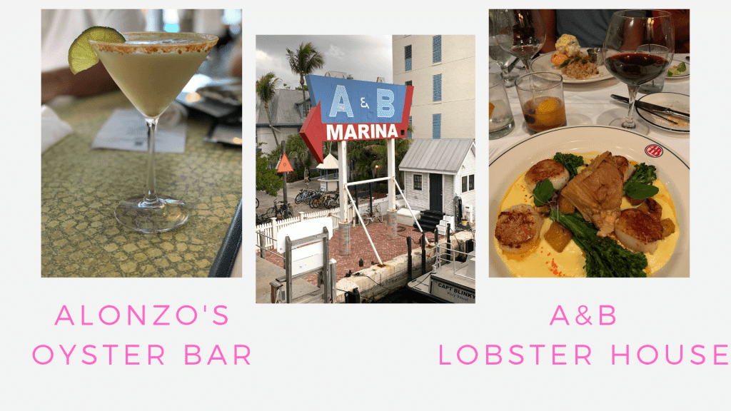 Trip Guide to Key West, Florida, Couples Getaway, Stilettos and Diapers, Alonzo's Oyster Bar, A&B Lobster House