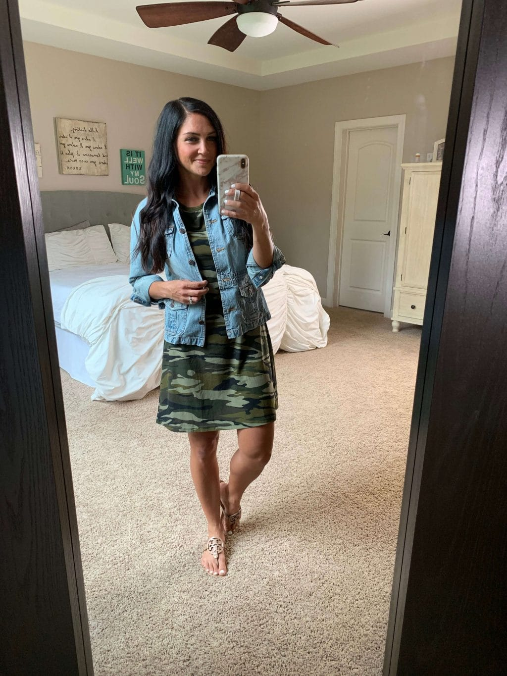 Amazon Fashion, Stilettos and Diapers, Molly Wey, Camo dress, Fall transition style