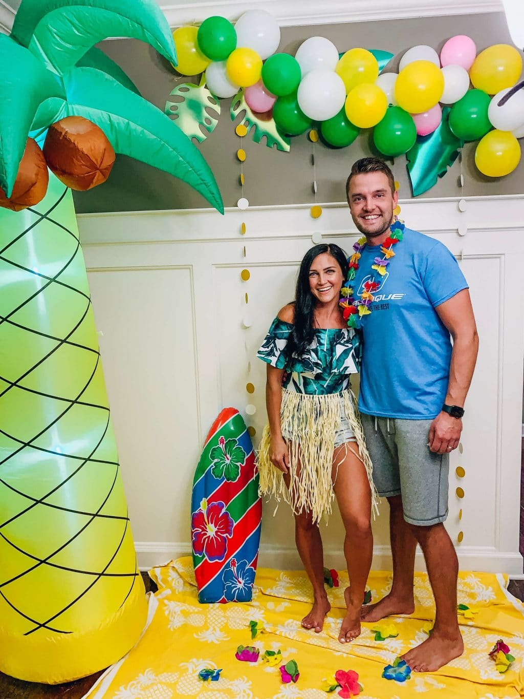 Tropical Birthday Party, Stilettos and Diapers, Surf Party, Hawaiian Luau Party, Molly Wey