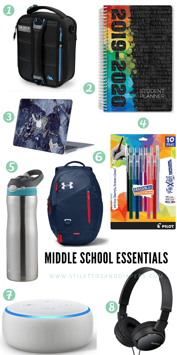 Middle School Essentials, Stilettos and Diapers