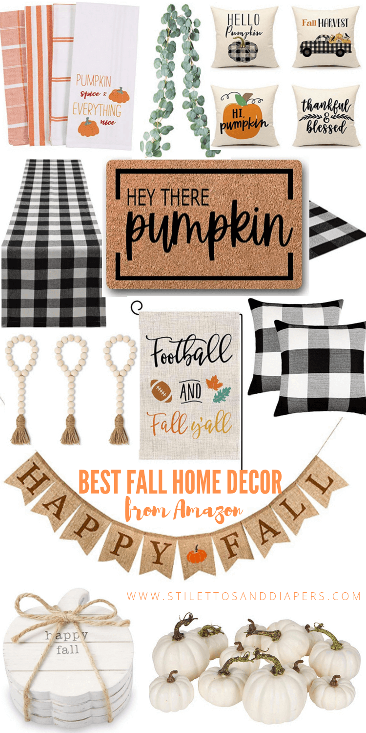 Amazon Fall Home Decor, Fall Home under $50, Stilettos and Diapers, #FoundItOnAmazon