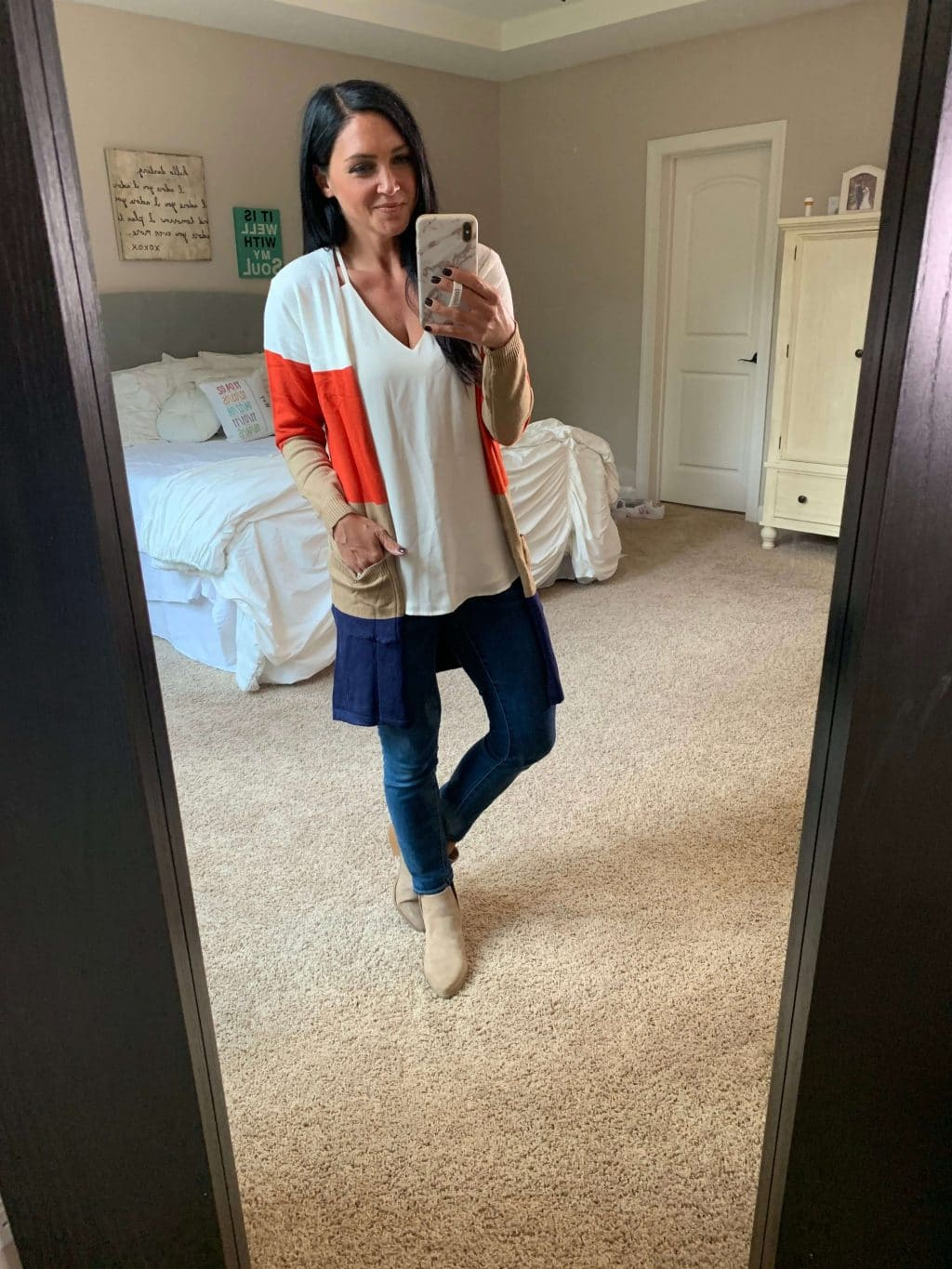 Amazon Finds, Amazon Style, Stilettos and Diapers, Molly Wey, madewell cardigan dupe, fall cardigan