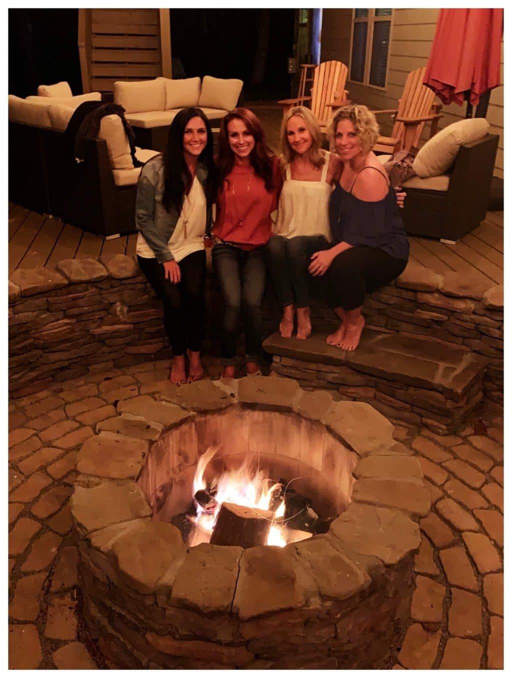 Friends, Fall, Firepit, Lake Norman