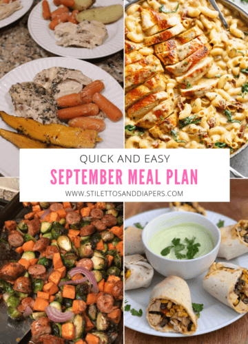 Simple September Meal Plan, Stilettos and Diapers
