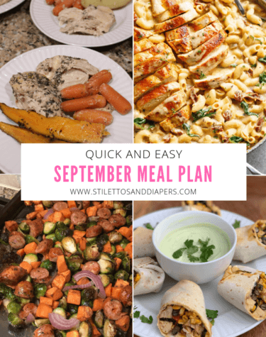 Simple September Meal Plan