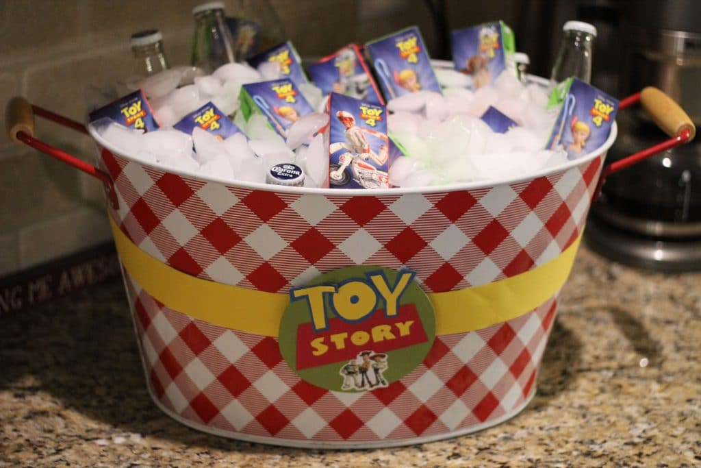 Toy Story Birthday Party, Stilettos and Diapers, Molly Wey, Toy Story Juice Boxes,