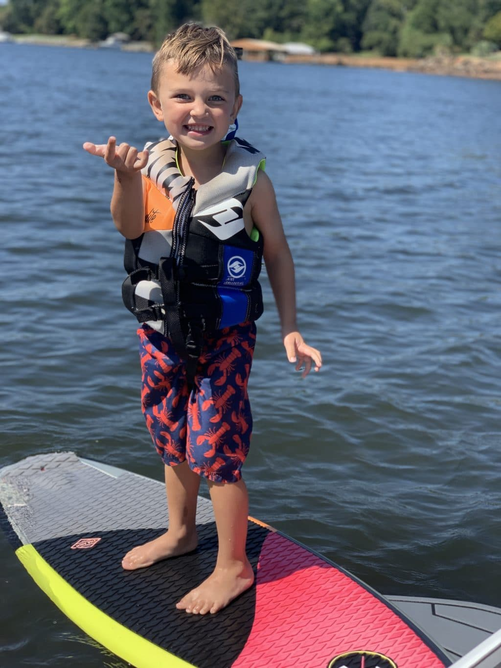Wake Surfing, Lake Norman, Stilettos and Diapers, Lincoln Wey