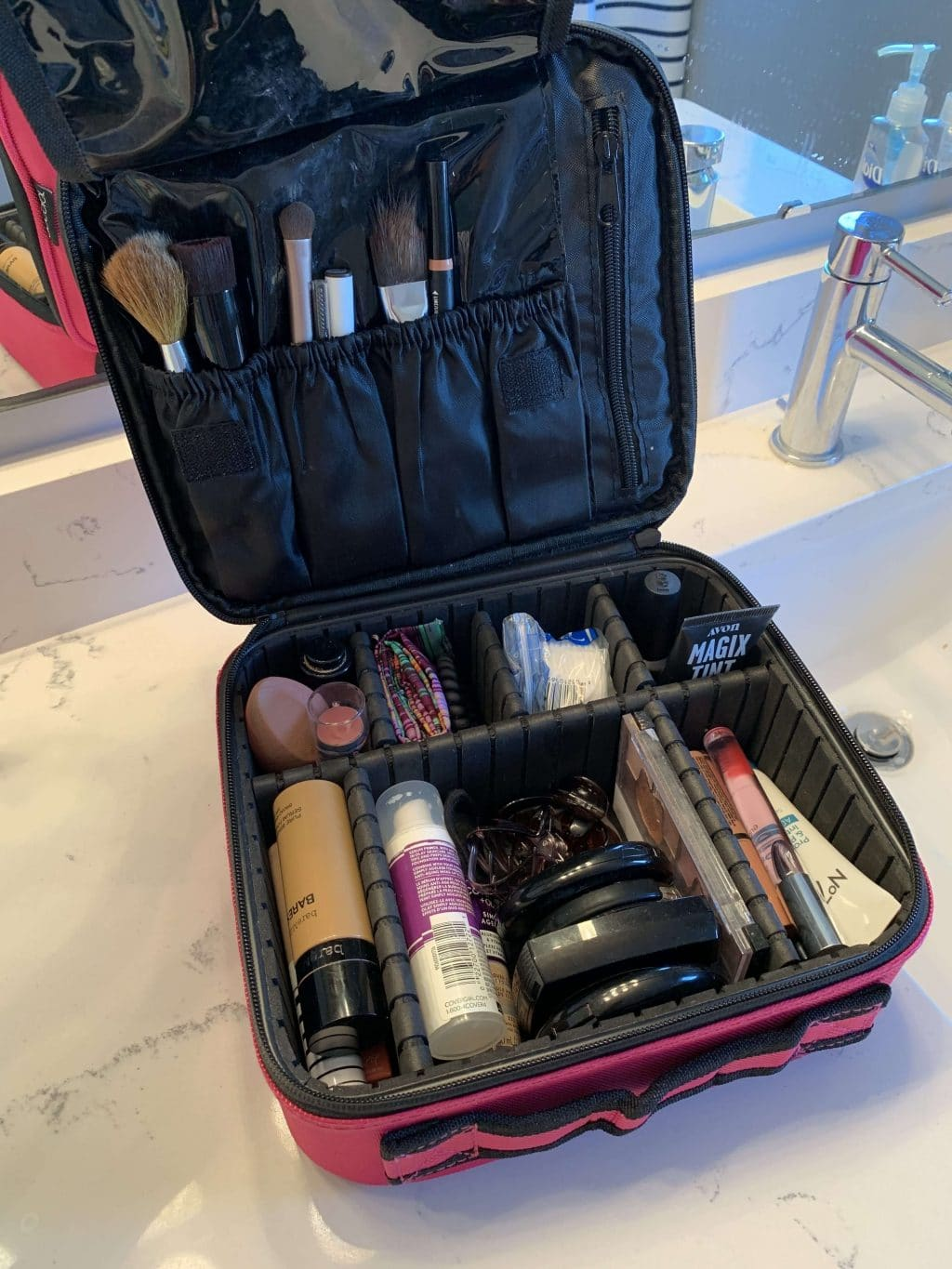 Makeup Case, Stilettos and Diapers, favorite things, Amazon finds, best makeup travel case