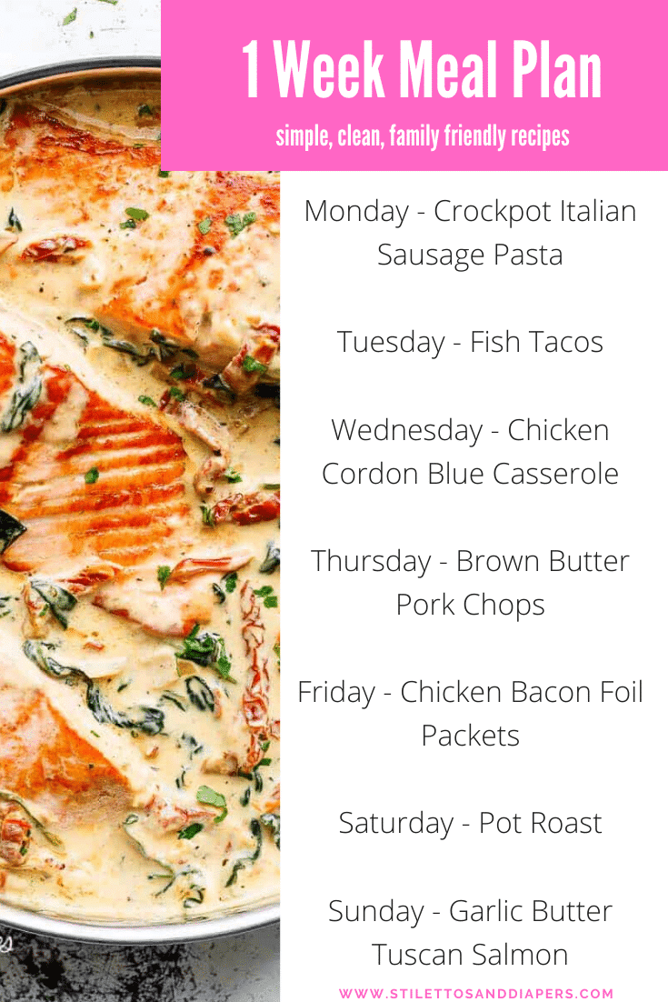 Family Friendly Weekly Meal Plan
