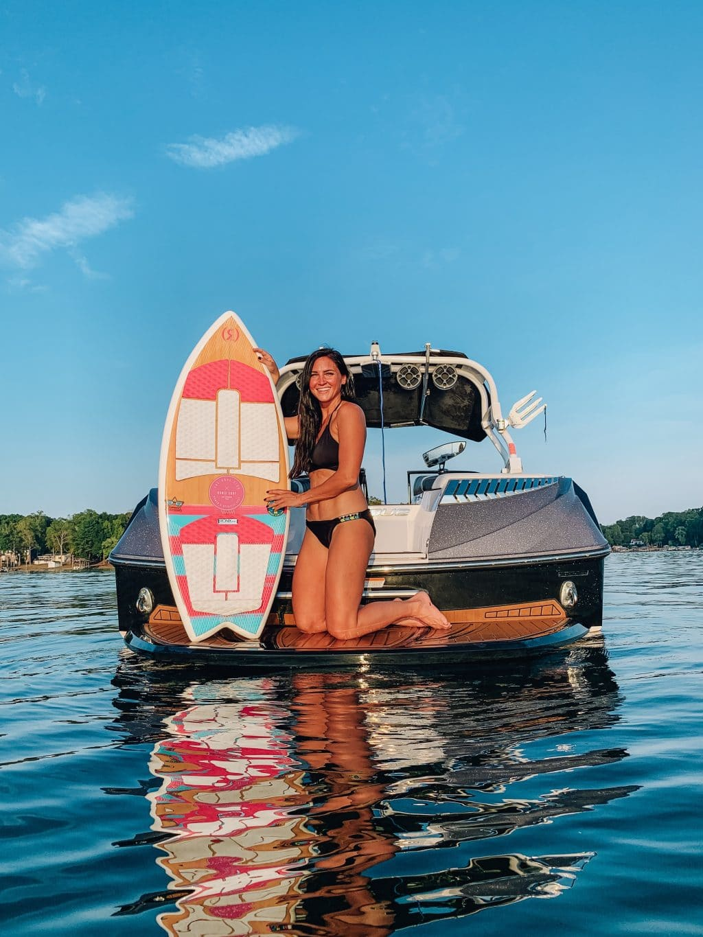 Race City Marine, Ronix Wake Surf board, Lake Norman, Molly Wey