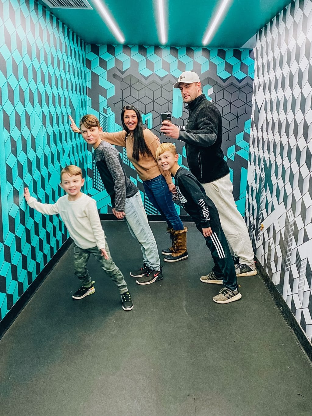 Museum of illusions New York City, Family travel, Molly Wey, Stilettos and Diapers