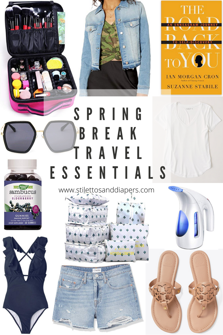 Spring Break Travel Essentials, Stilettos and Diapers