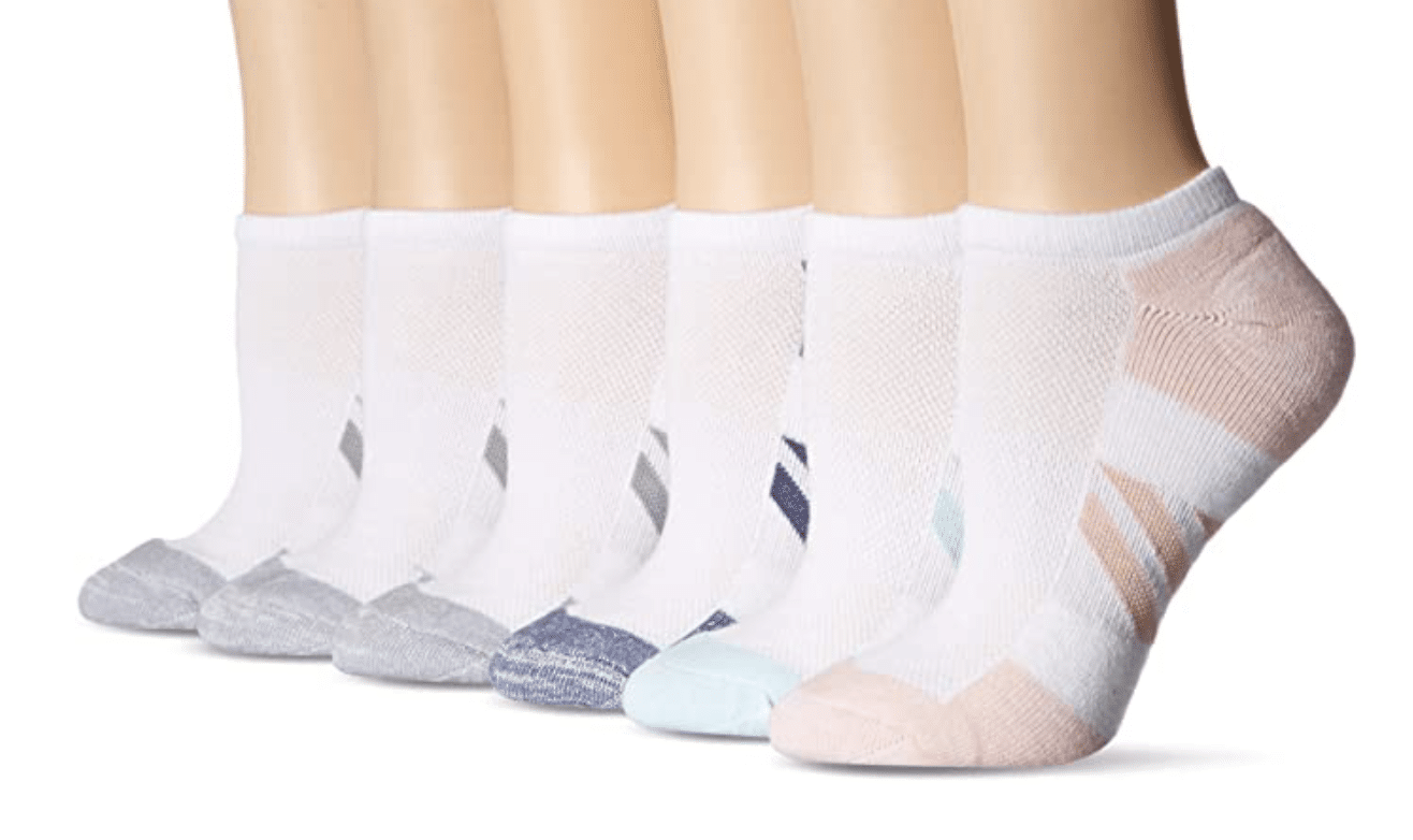 Amazon athletic socks, Stilettos and diapers