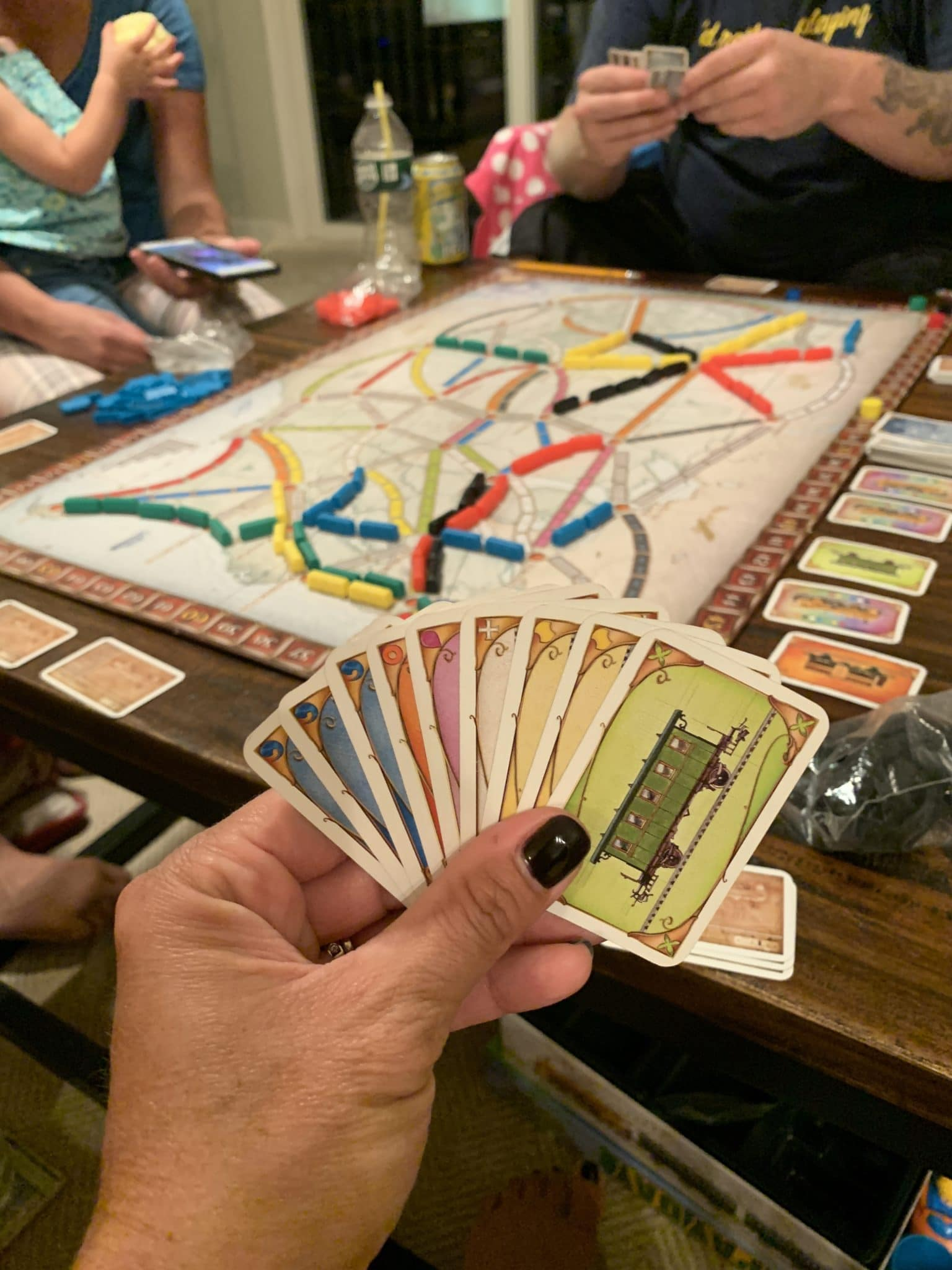 Ticket to ride, stilettos and diapers, best family games