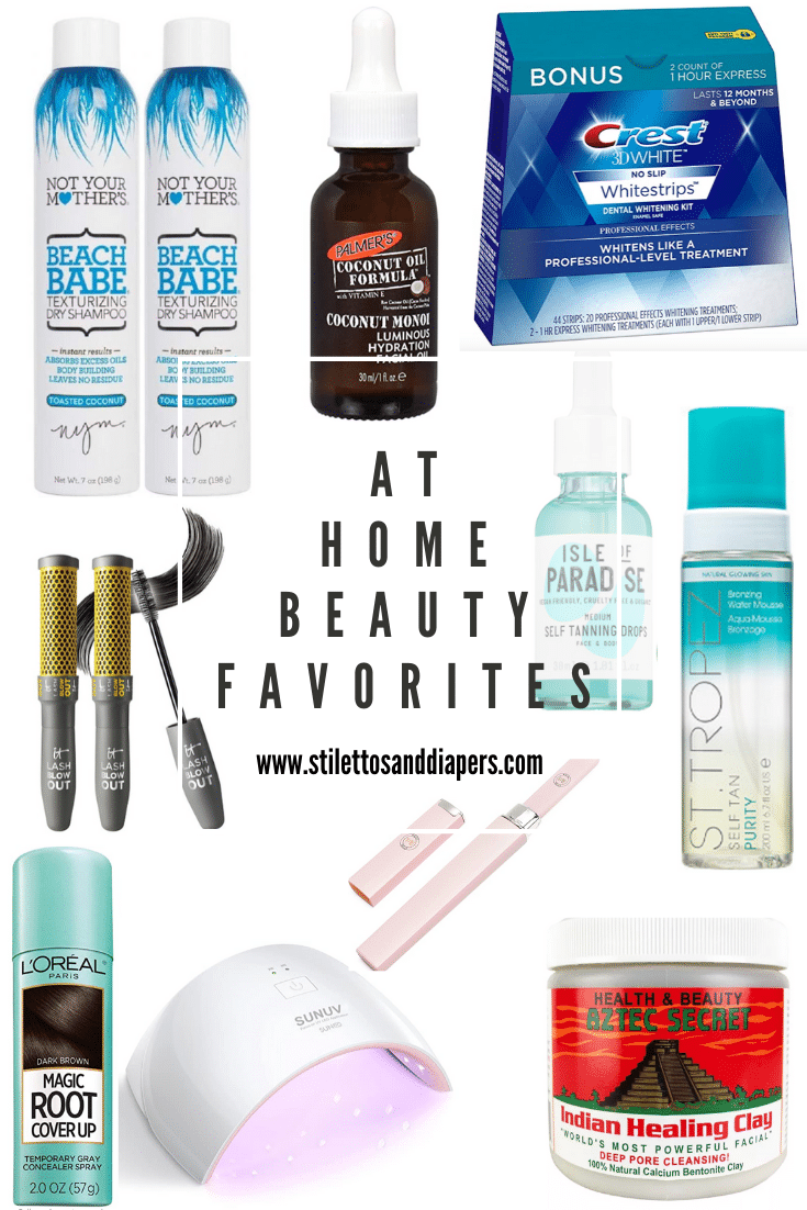 At Home Beauty Favorites, Stilettos and Diapers