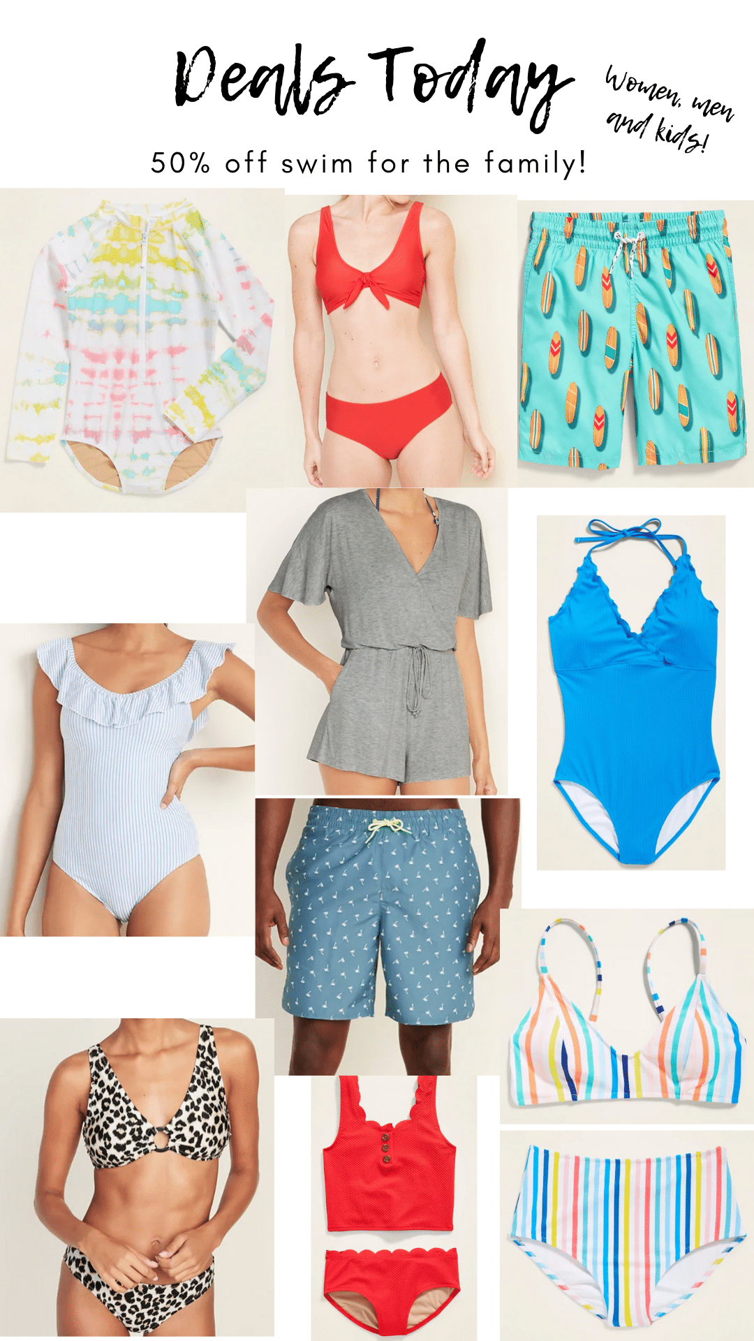 Swim Deals for the family, Stilettos and Diapers