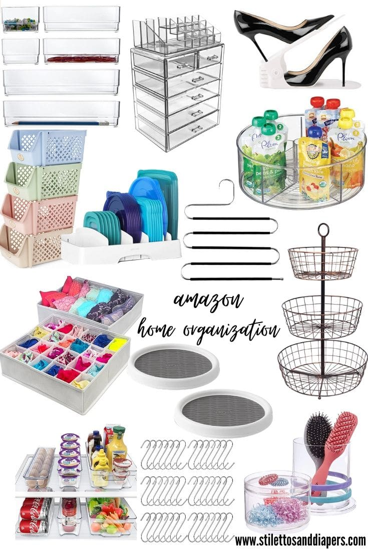 Amazon Home Organization, Stilettos and Diapers