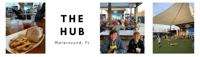 The Hub, 30A, Stilettos and Diapers, Where to eat