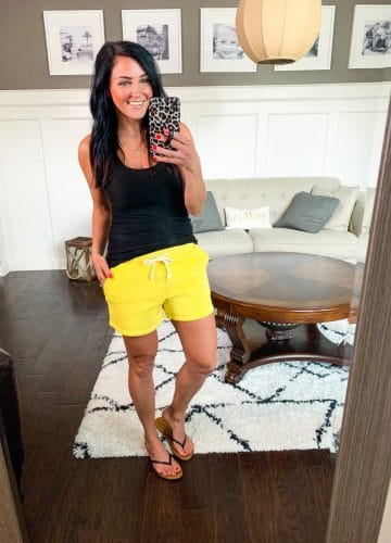Top 10 May Favorites, Lounge shorts, neon sweatshorts, Stilettos and Diapers