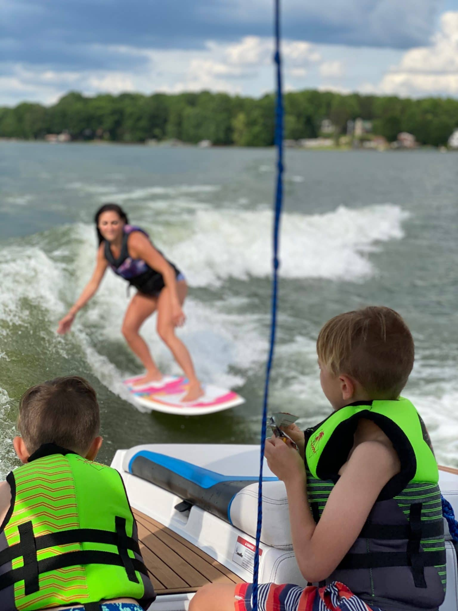 Lake Norman, NC, Wake Surfing, Nautique Boats, Stilettos and Diapers, Molly Wey
