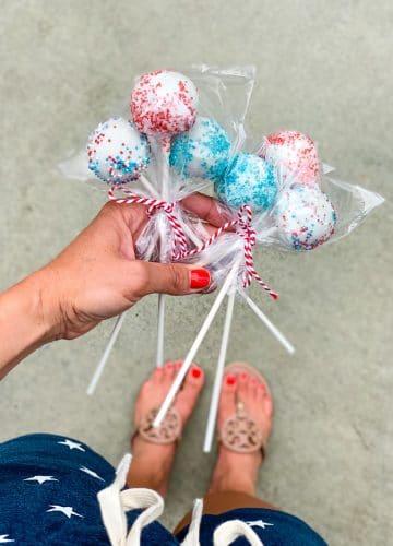 Patriotic cake pops, Stilettos and Diapers