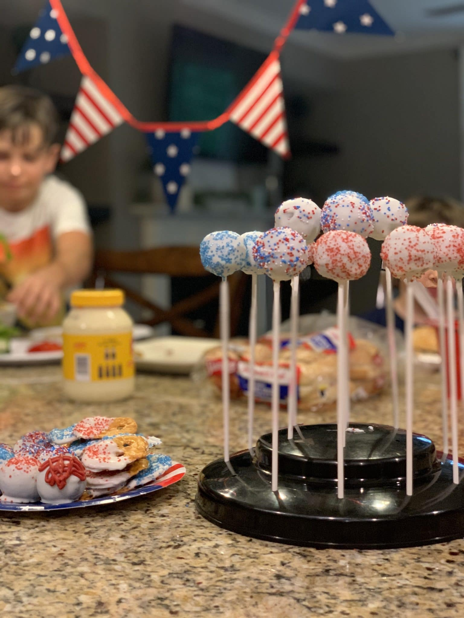 Memorial Day BBQ, Patriotic Cake Pops