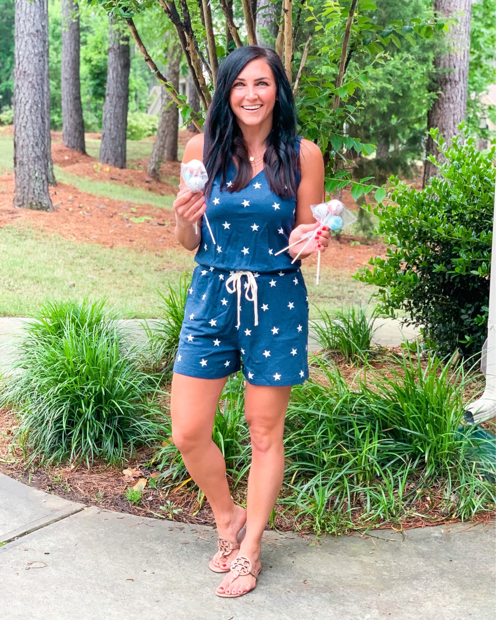Star Romper, Memorial Day outfit, Patriotic clothing, Amazon Find