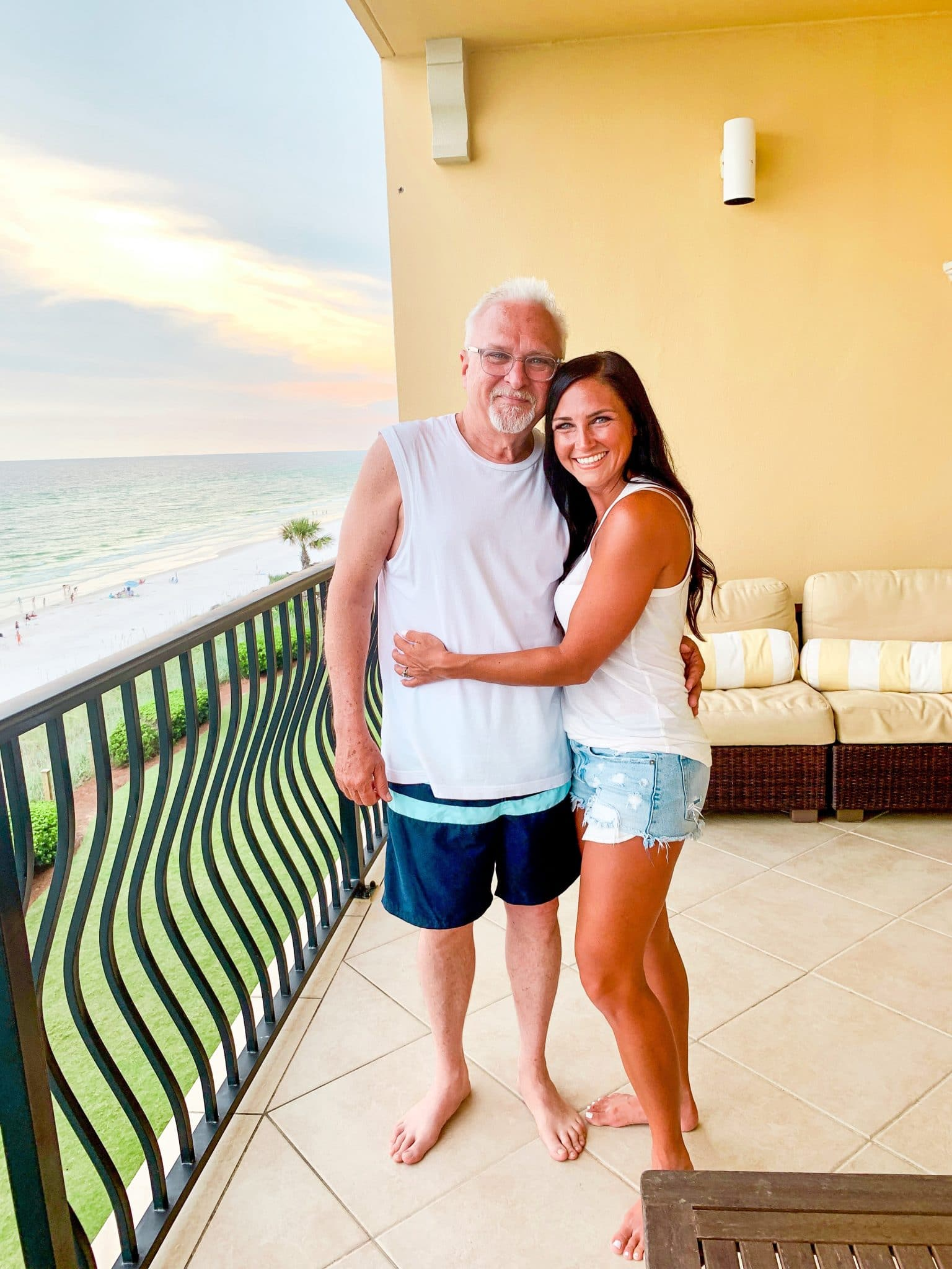 Father and Daughter, Stilettos and Diapers, 30A Vacation
