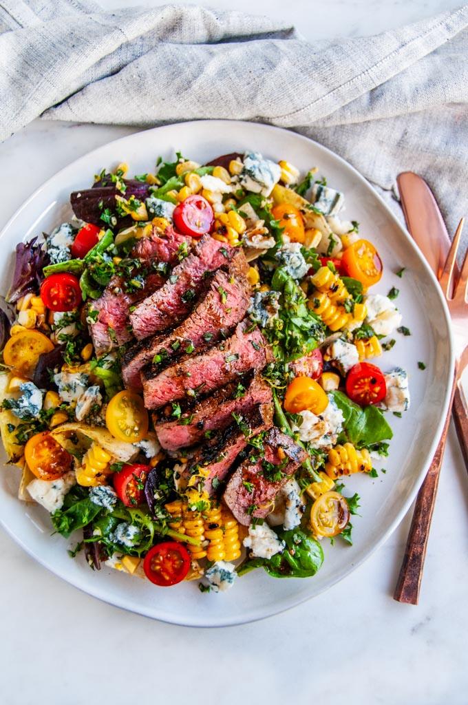 Balsamic Steak Gorgonzola Salad