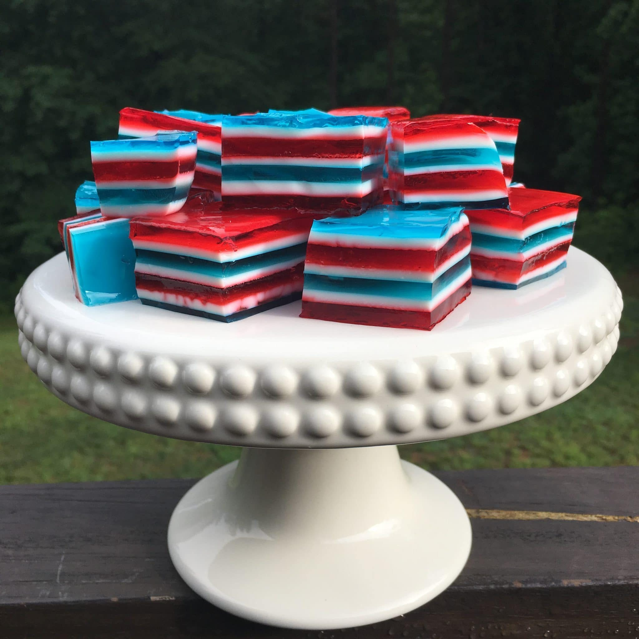 uly 4th Food, Stilettos and Diapers, Layered Jello, Patriotic Jello shots
