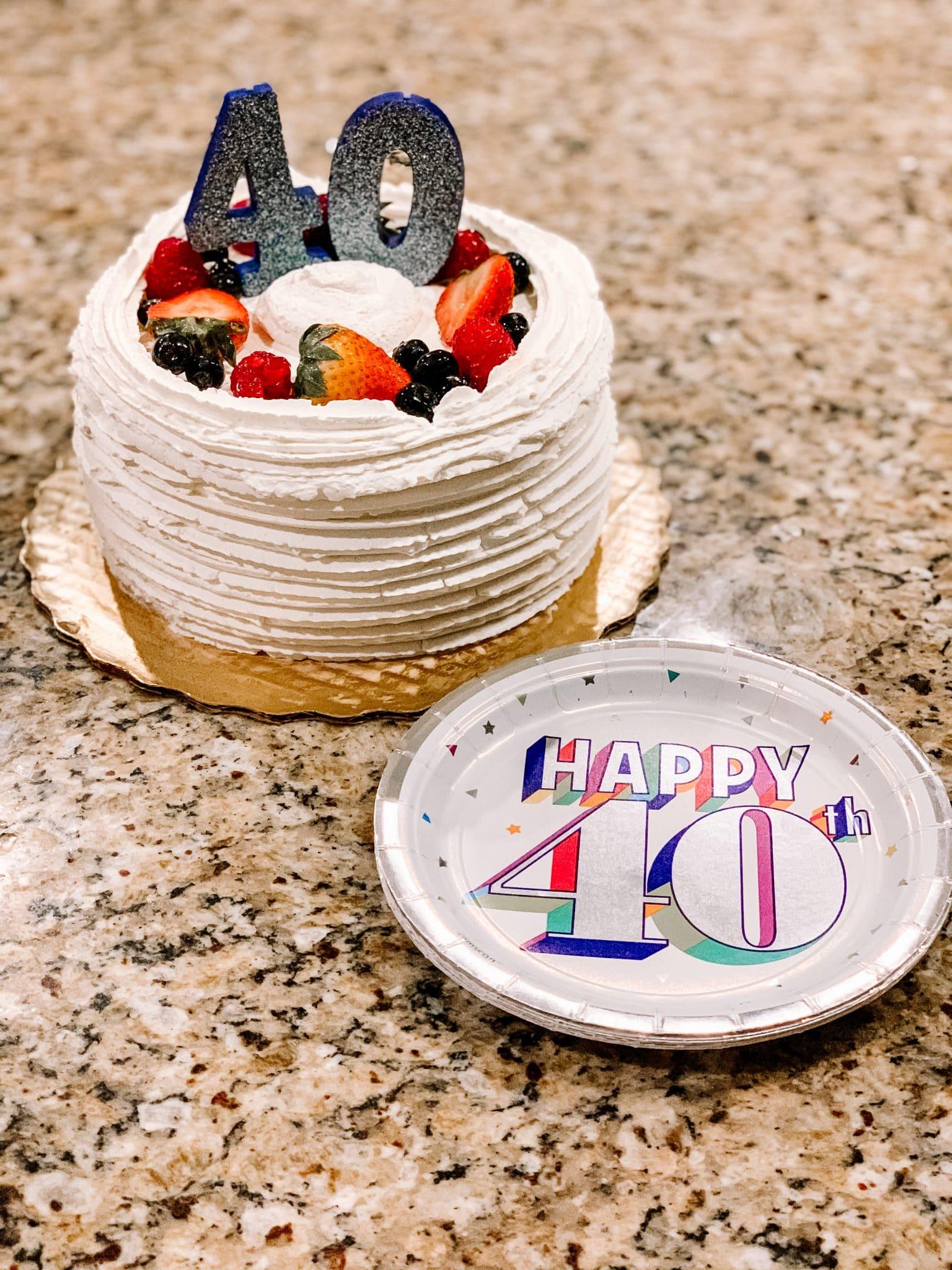 40th Birthday Chantilly Cake