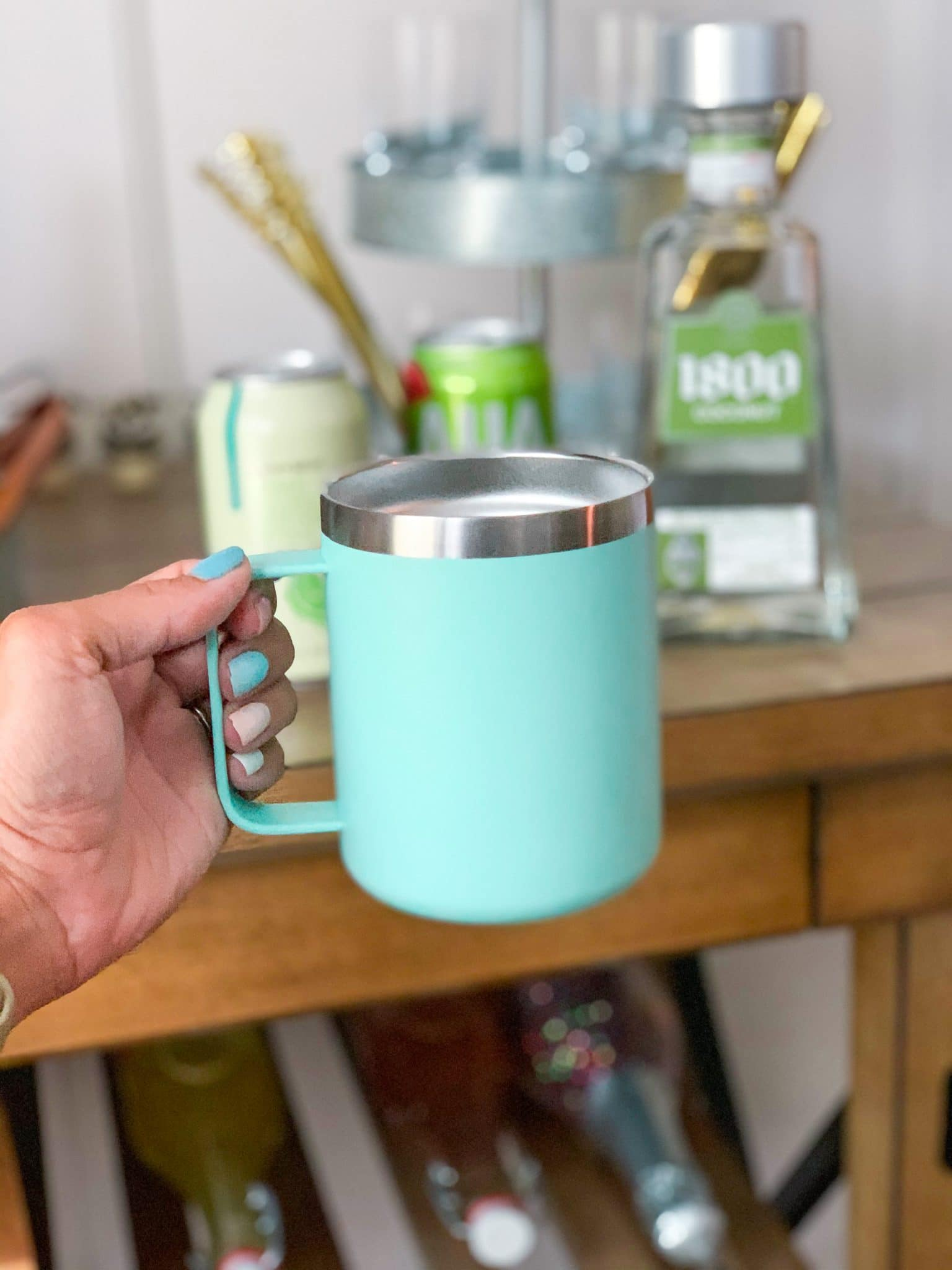 Similar for less Yeti insulated mug, Stilettos and Diapers