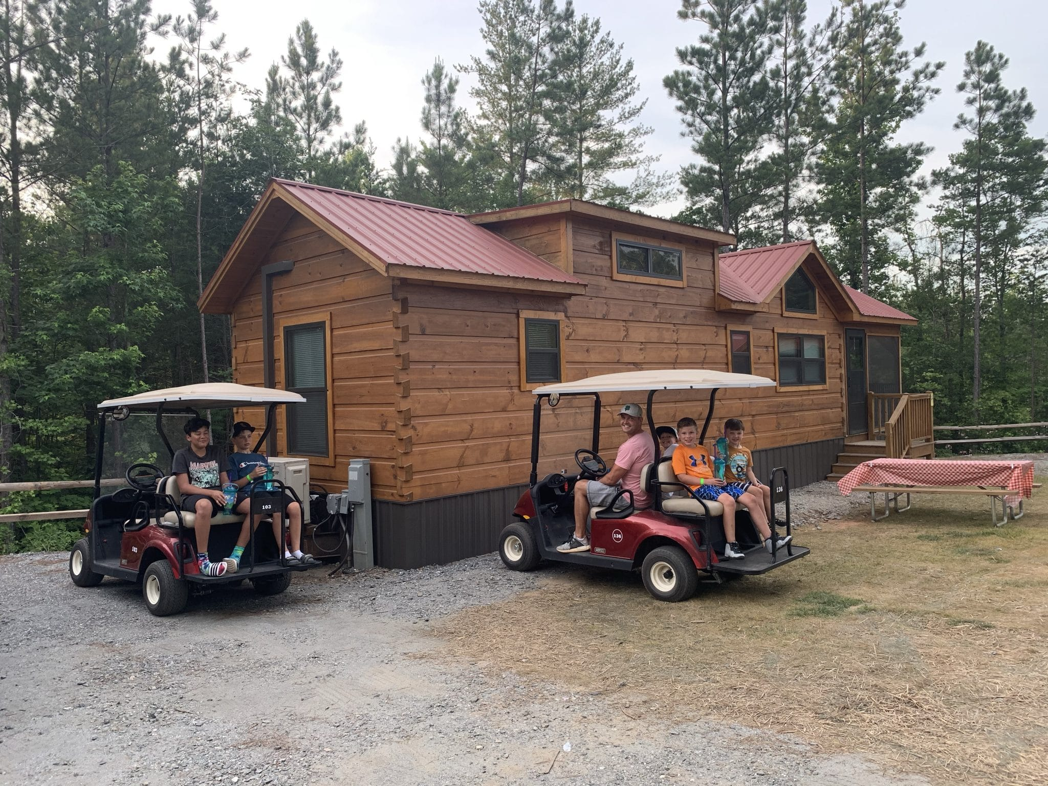 Golf Cart Rentals, Jellystone Golden Valley, North Carolina Camping, Stilettos and Diapers
