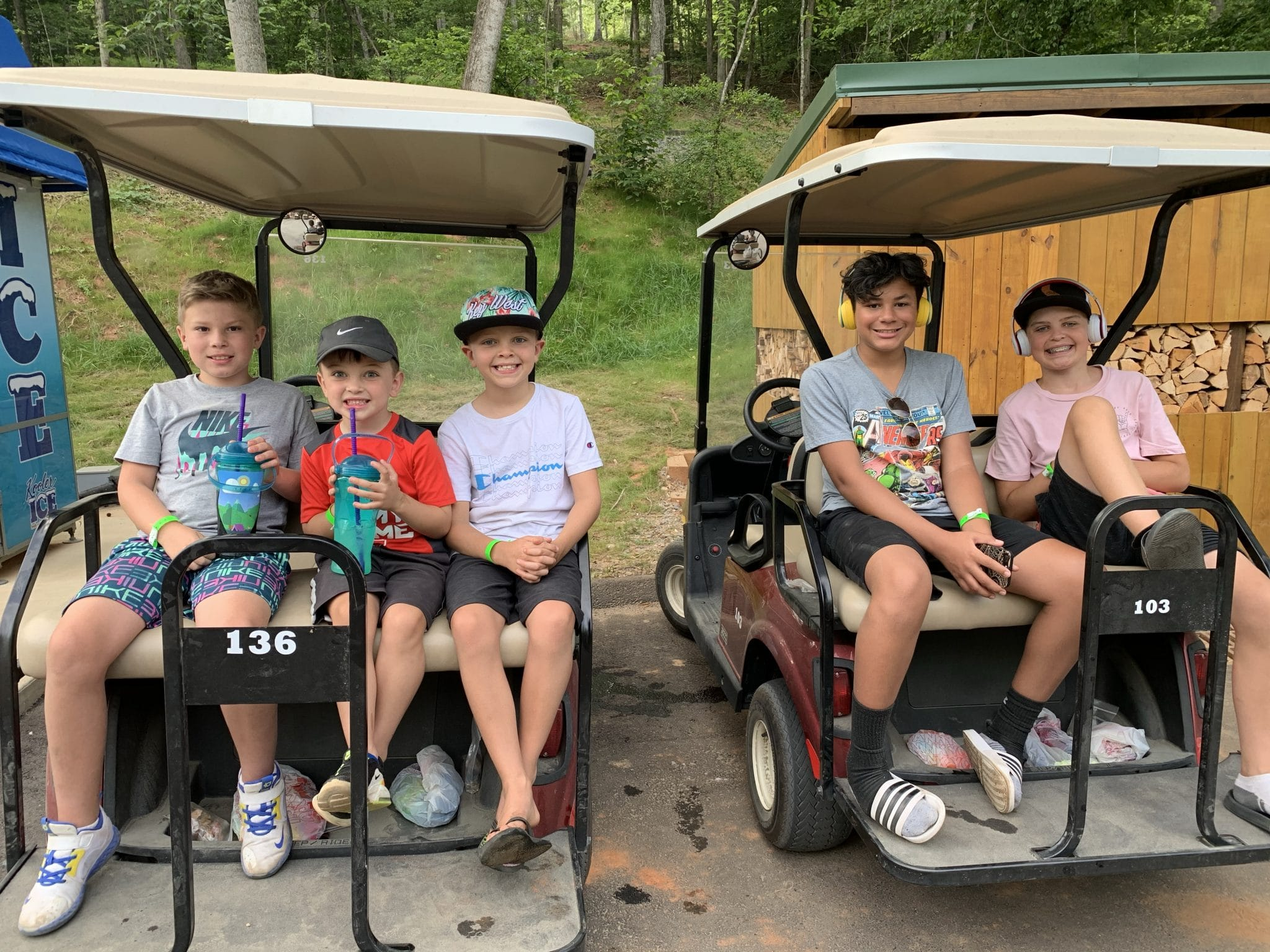 Jellystone Golden Valley, North Carolina Camping, Golf Cart rentals, Stilettos and Diapers