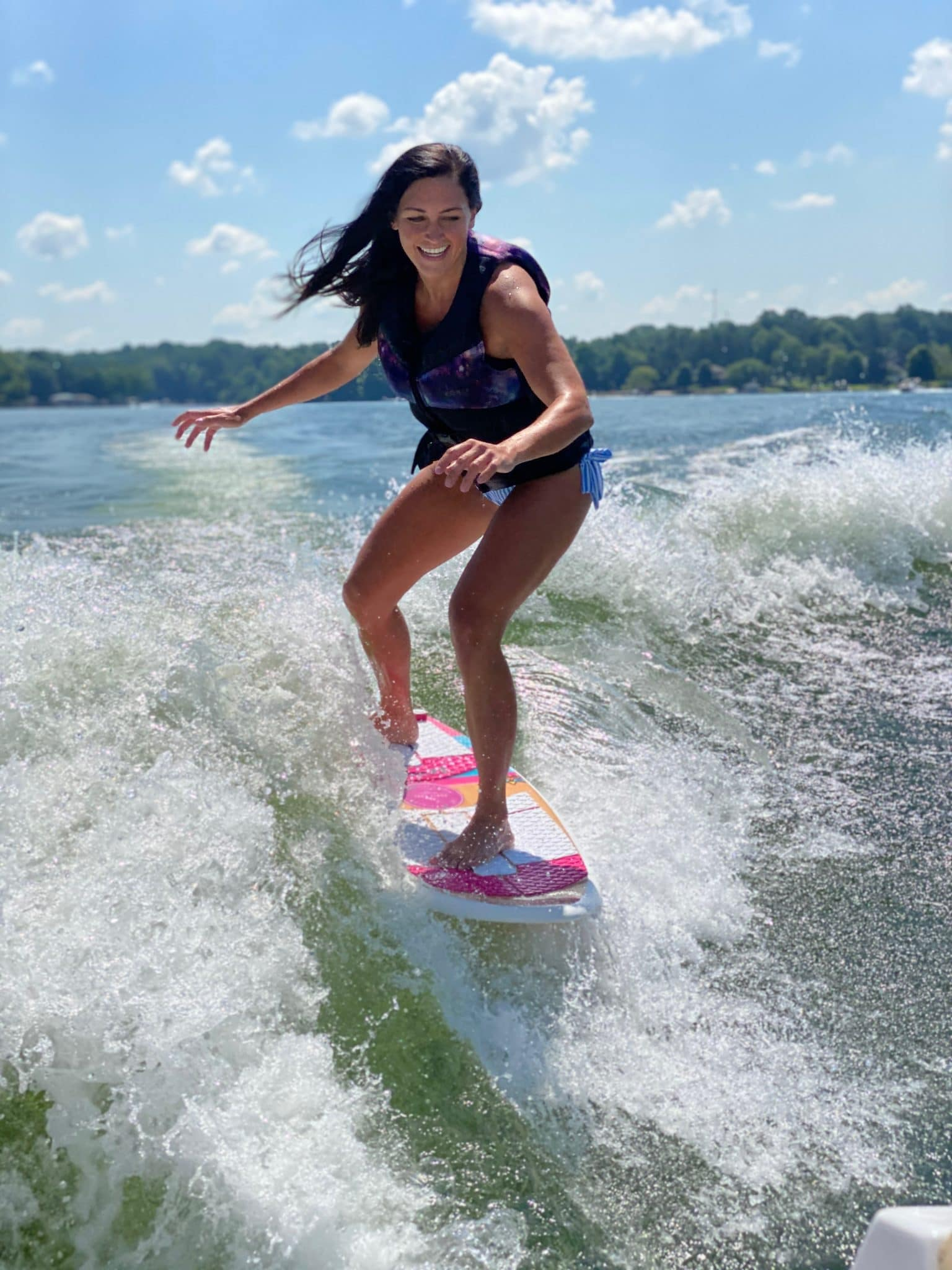 Molly Wey, Wakesurf Lake Norman, Stilettos and Diapers