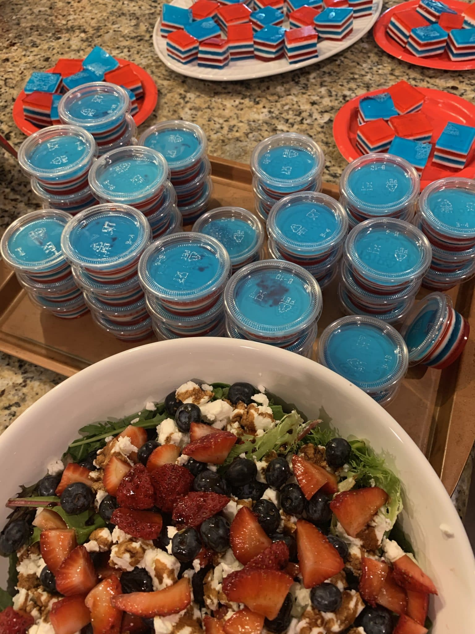 July 4th food, Stilettos and Diapers, Jello Shots