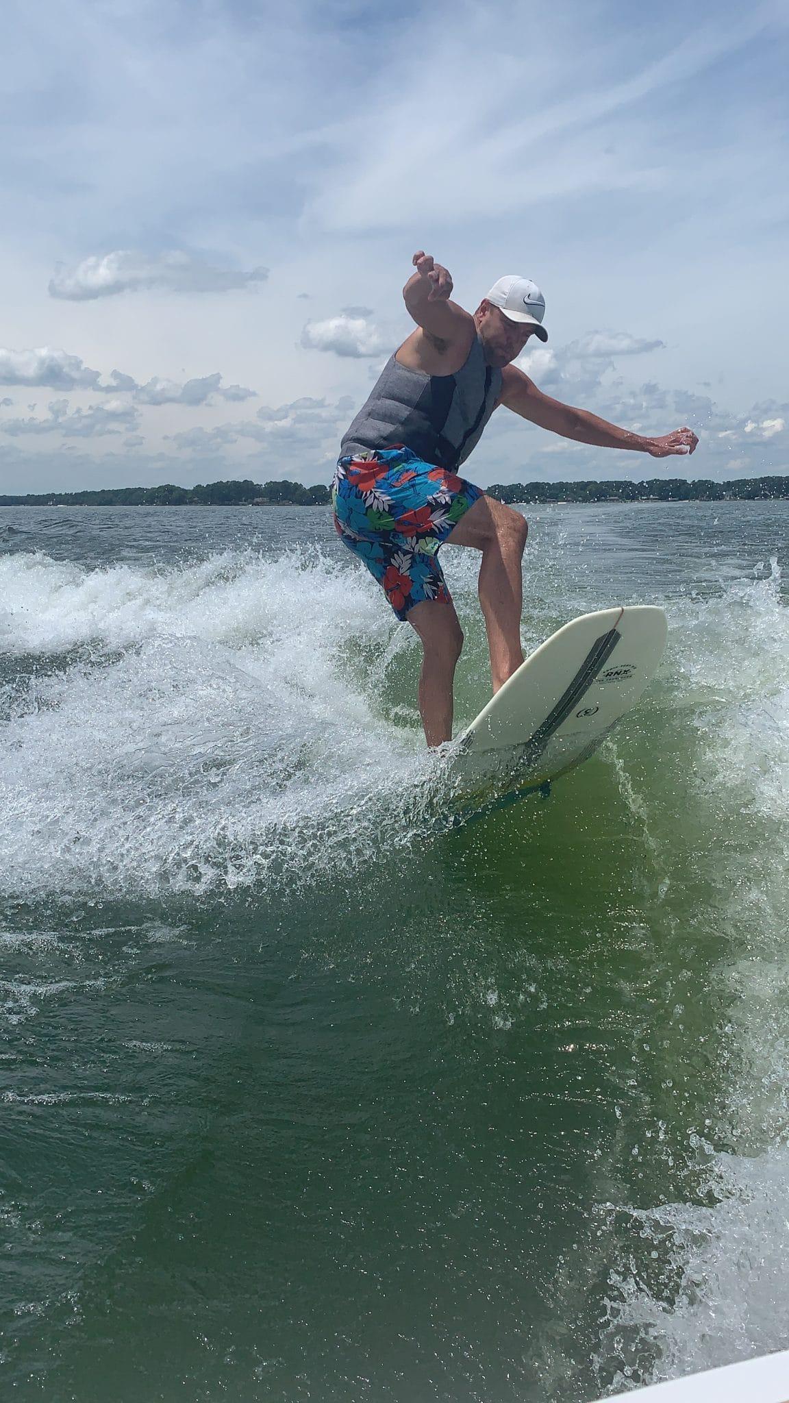 Wakesurfing Lake Norman, Stilettos and Diapers