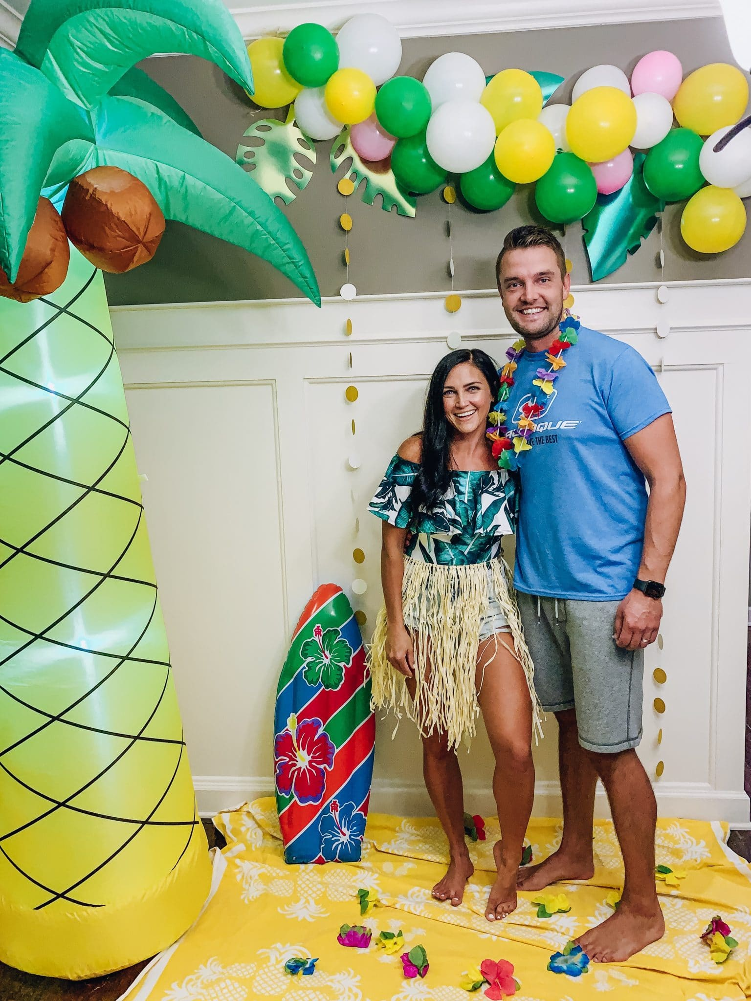 Tropical Surf Party Theme, Stilettos and Diapers, Adult Party Idea