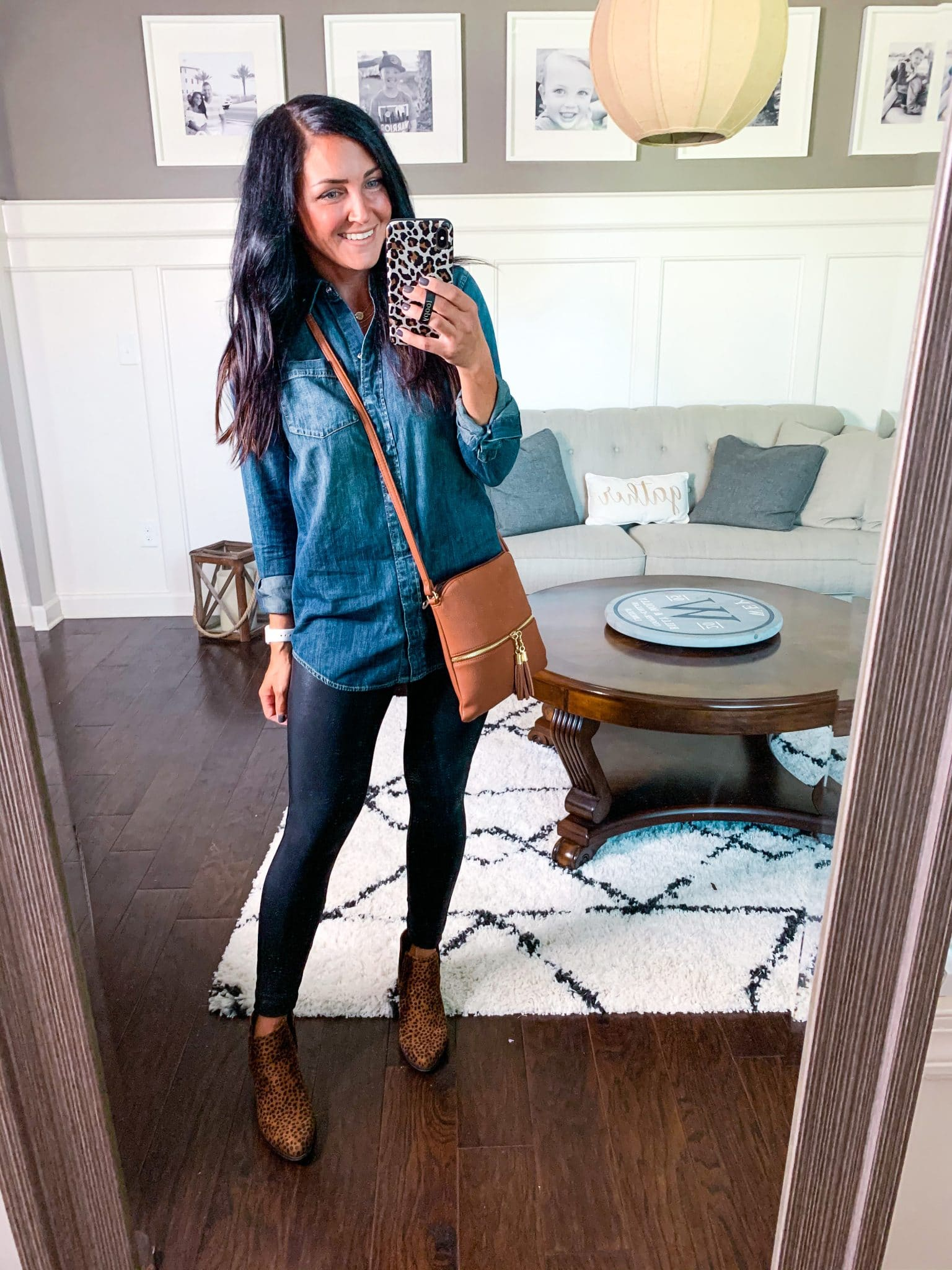 Fall Transition Style, Chambray Shirt, Denim Shirt, Stilettos and Diapers, Molly Wey