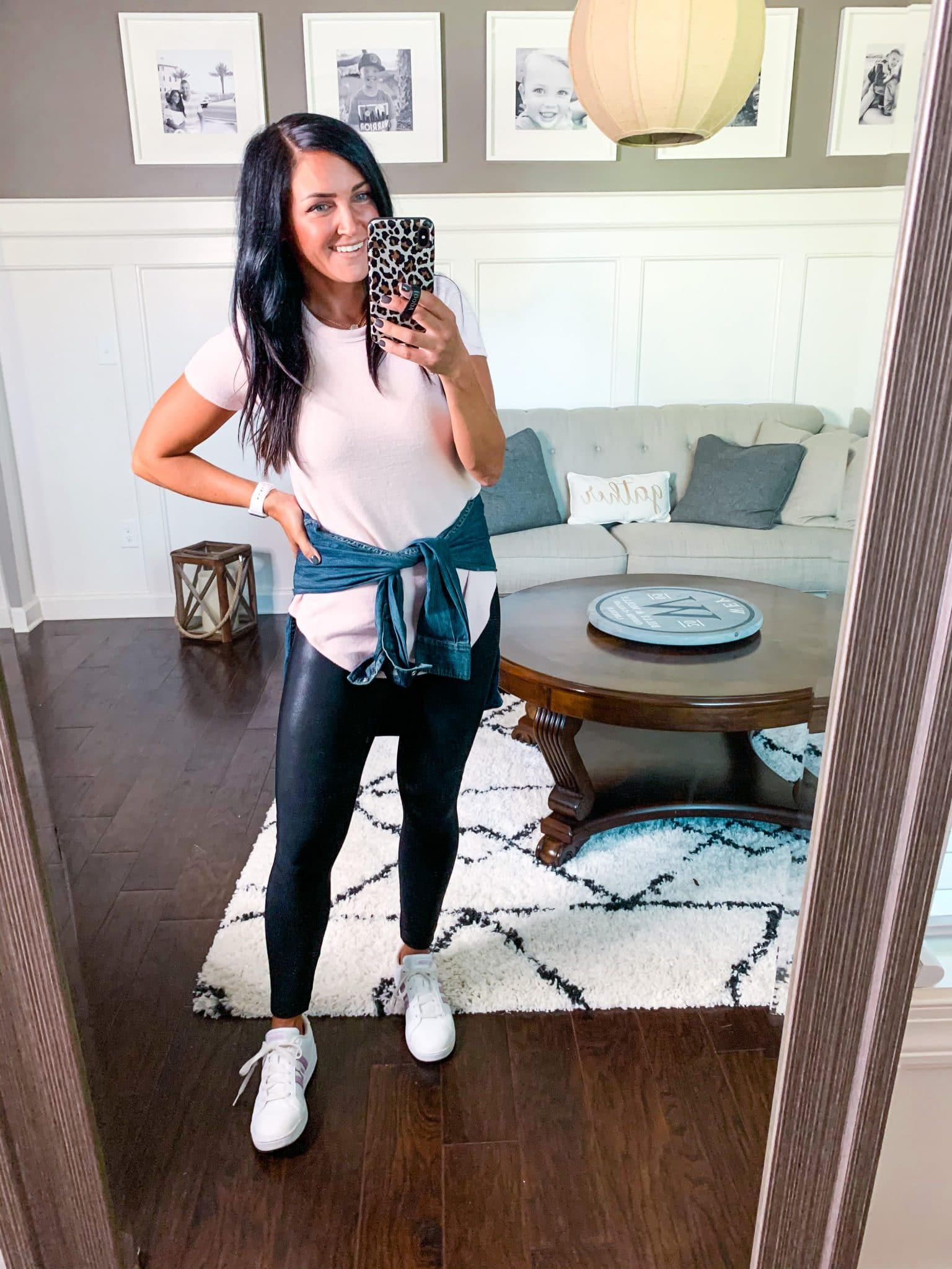 Summer to Fall Transition, Stilettos and Diapers, Casual Tunic, Spanx Leggings, Molly Wey