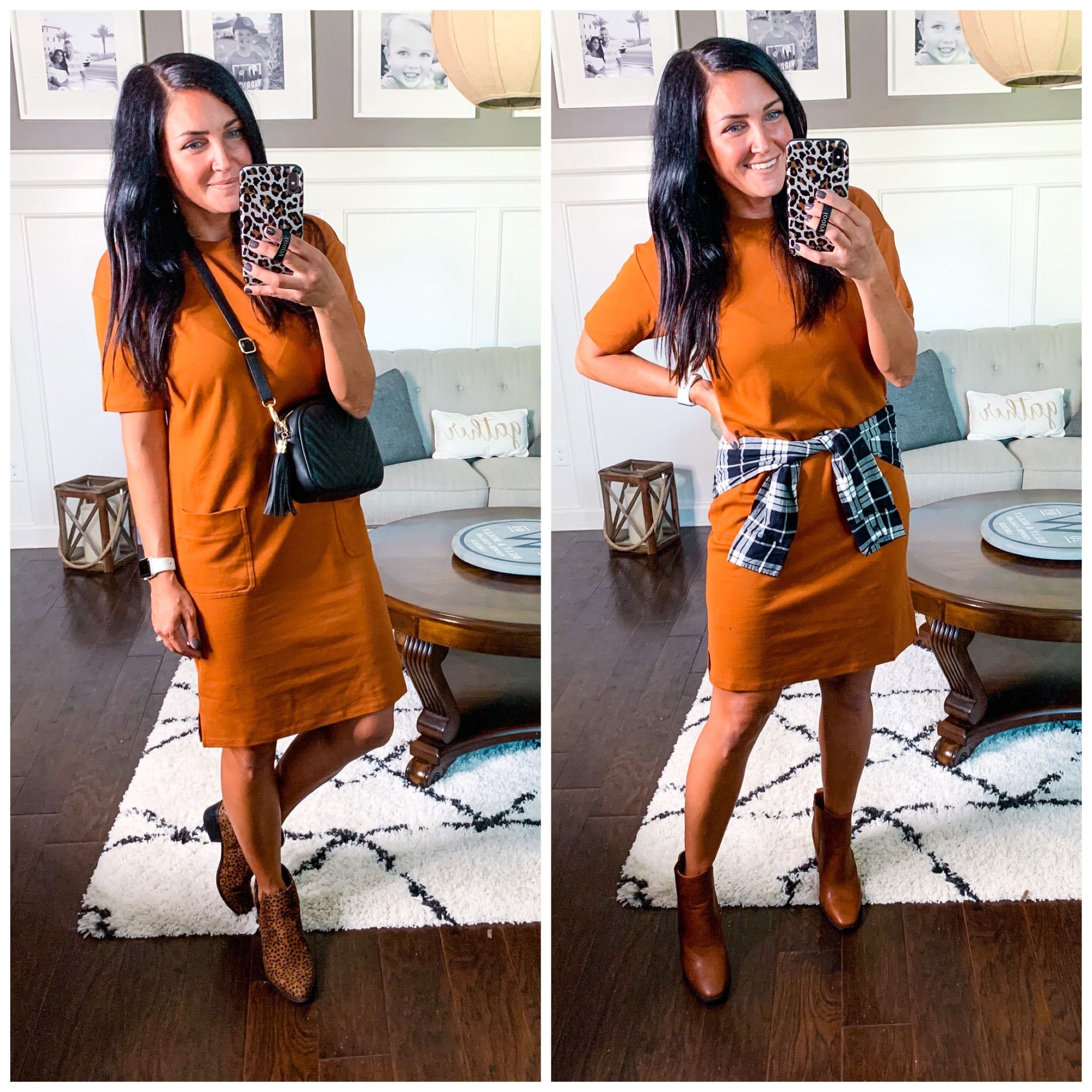 1 Dress 2 ways, Summer to fall fashion, Amazon Finds, Stilettos and Diapers, Molly Wey