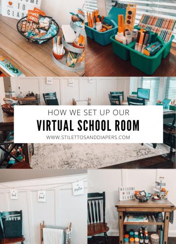 Virtual Home Classroom, Homeschool Room Ideas, Stilettos and Diapers