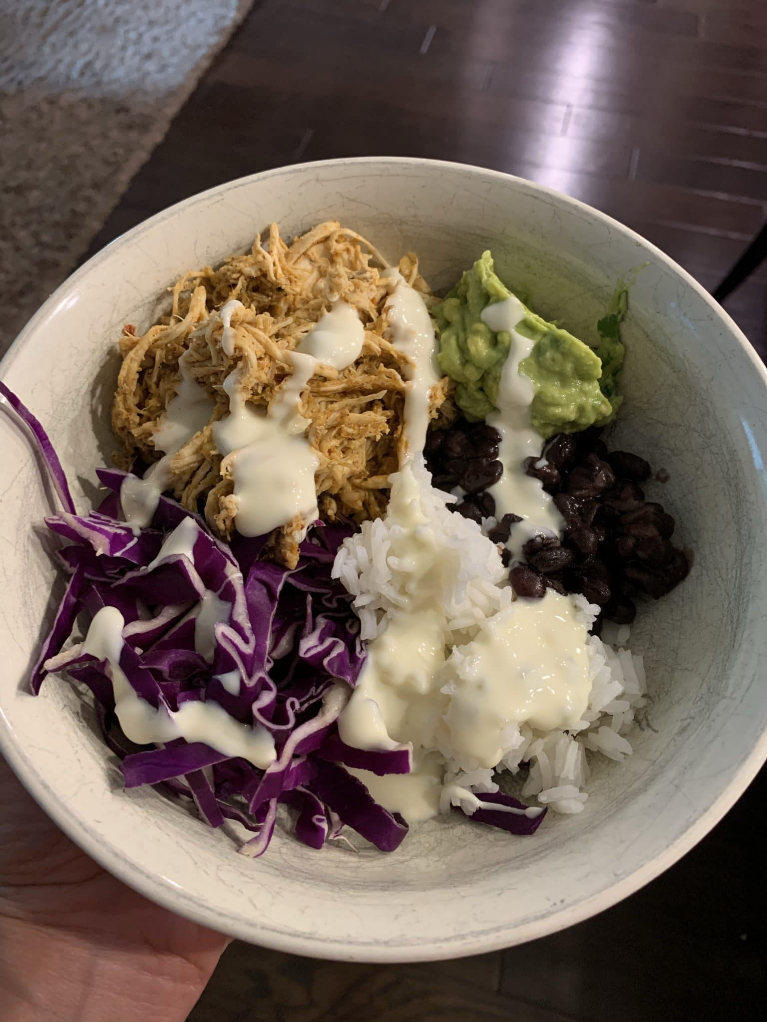 Crockpot Shredded Chicken Taco Bowls, Stilettos and Diapers