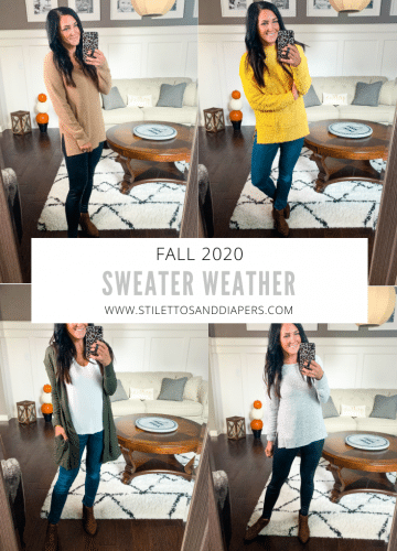 Sweater Weather 2020, Favorite Fall Sweaters, Stilettos and Diapers