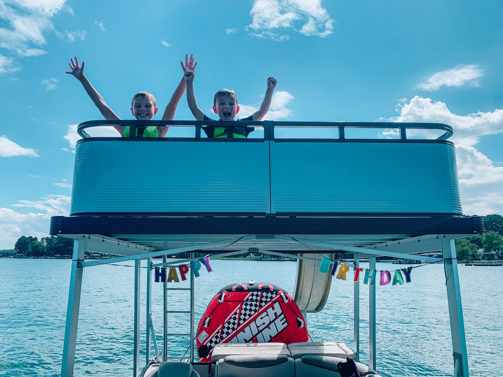 Lake Norman, Birthday Boating, 5th Birthday, Stilettos and Diapers