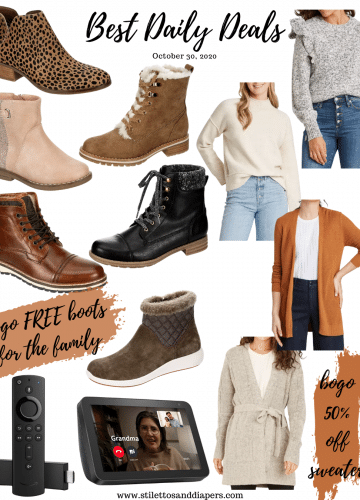 BOGO Free Boots, Best Daily Deals, Stilettos and Diapers