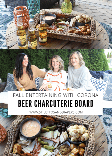 Fall Entertaining with Beer Themed Charcuterie Board and Corona Beer, Stilettos and Diapers