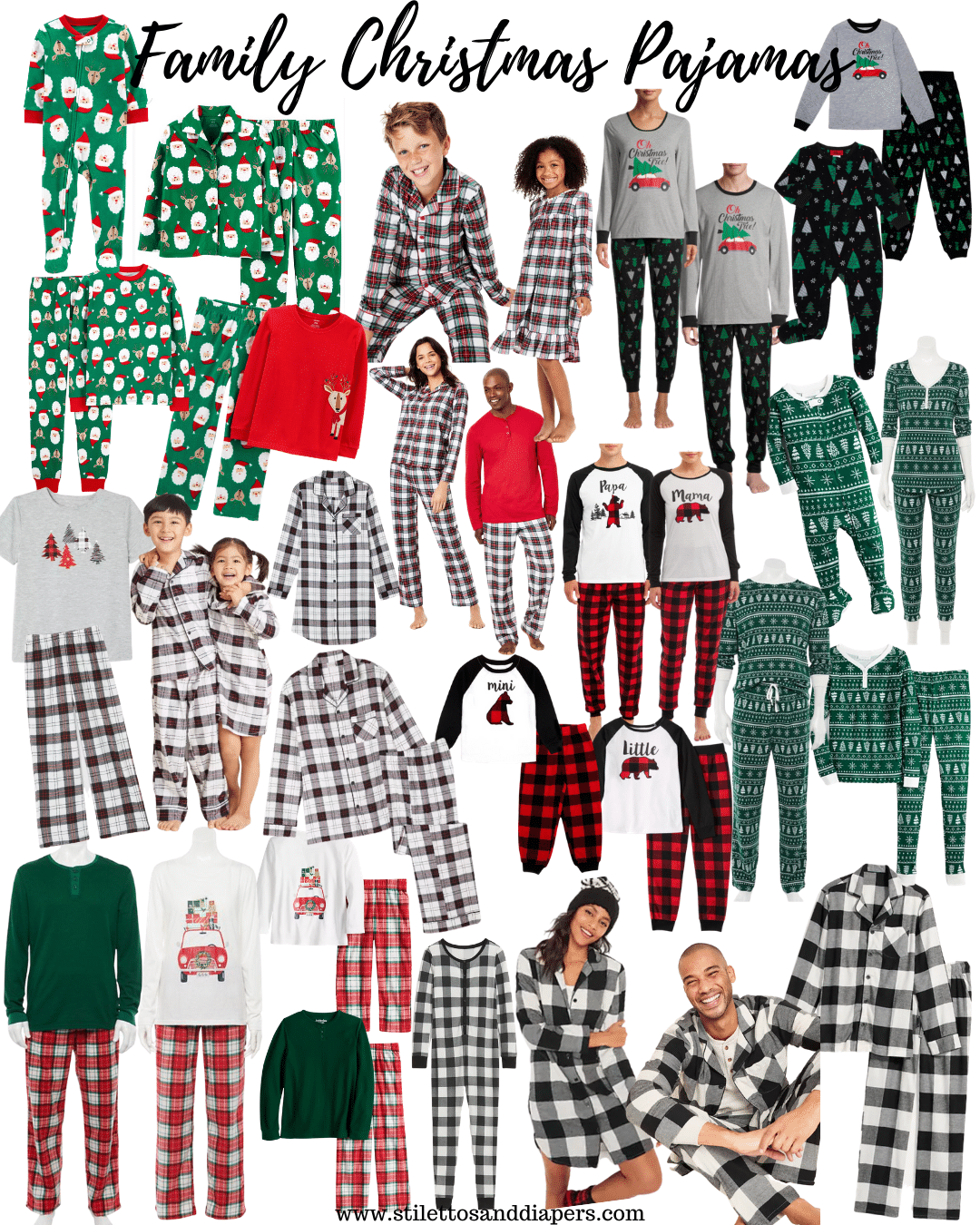 Matching Family Christmas Pajamas, Best of 2020, Stilettos and Diapers